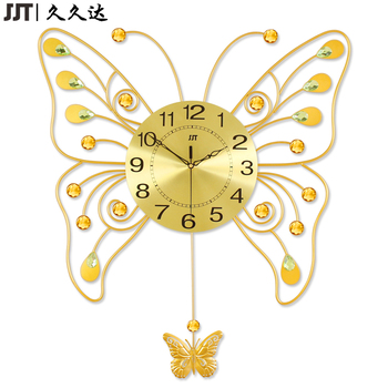 Large Living Room Decorative Metal Butterfly Swing Wall Clock Themes ...