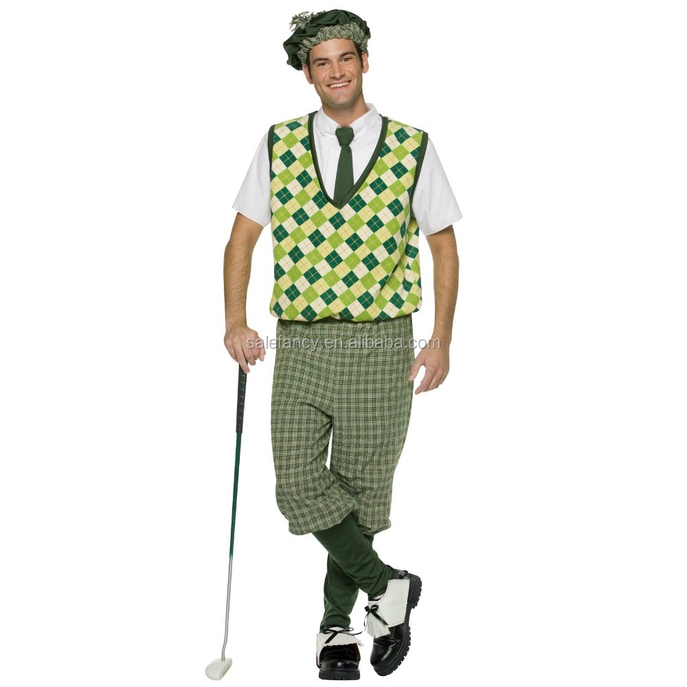 old time for men golf halloween inflatable golf ball costume cheap cosplay costumes QAMC-8367