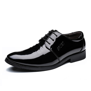 newest cheap navy world casual stylish dress patent leather shoes men