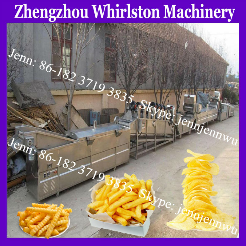 small machine de pommes frites chips commercial from whirlston