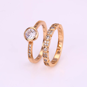 12312 Xuping fashion jewelry 18k saudi gold color plated newest style design beautiful couple jewelry rings