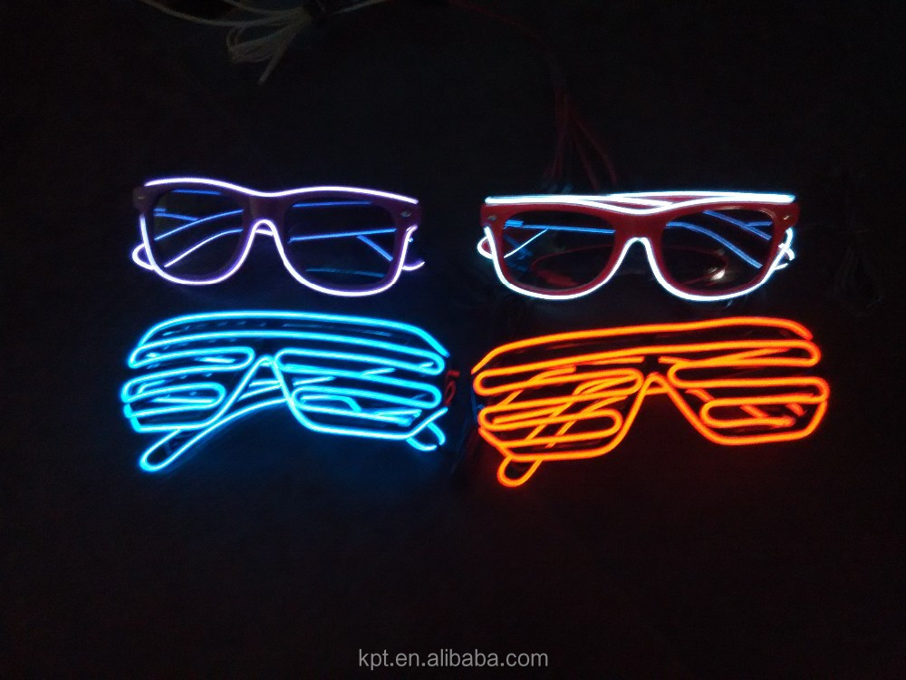 2016 high quality colorful lighting EL wire Shutter Shades glasses for party,concert