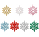 2018 New Style Colourful Plastic Snowflake Hanging Ornament For Christmas Decoration