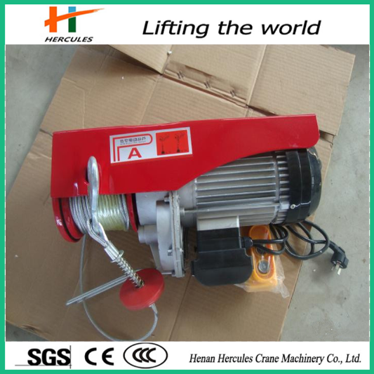 Mini Construction Lifting Machinery Wire Rope Electric Hoist 600kg