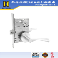 ANSI 1 security grades mortise door lock with leverset