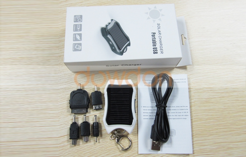 Mini Solar Charger/Small Solar Charger Keychain 1200MAH