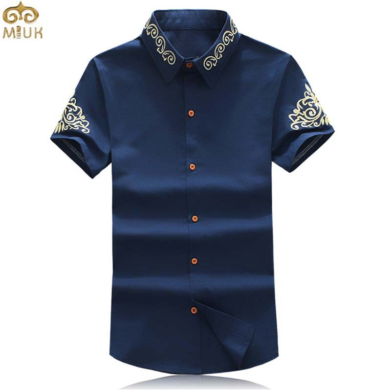 Get Quotations · Summer Style Plus Size Print Camisa Masculina 5XL Slim Fit  Brand Short Sleeve Men Shirt Black 956f8fd17e