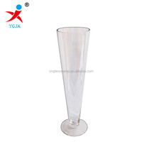 tall cone shape glass flower vase