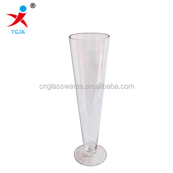 Tall Cone Shape Glass Flower Vase Buy Tall Cone Shape Glass Flower