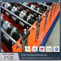 Machine producing metal tiles steel roof panel roll forming machine combo