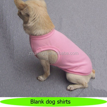 Customized blank dog tee shirts