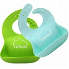 BPA Free Silicone Bibs Rubber Baby Bibs for Toddler Odorless