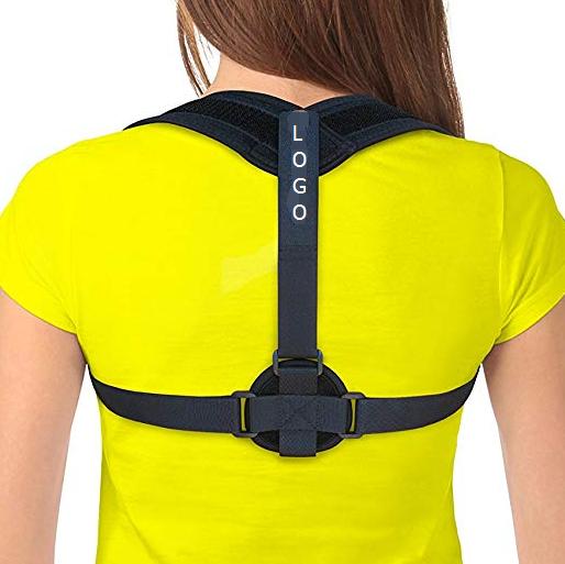 Amazon hot sale clavicle posture support brace improve bad posture adjustable back support posture correction, Black;or customized