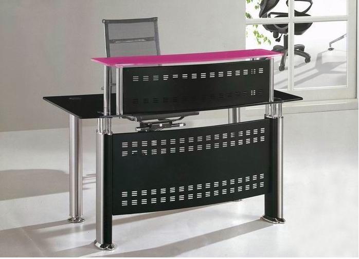 metlicos de oficina muebles de oficina de recepcin curvo de vidrio templado para