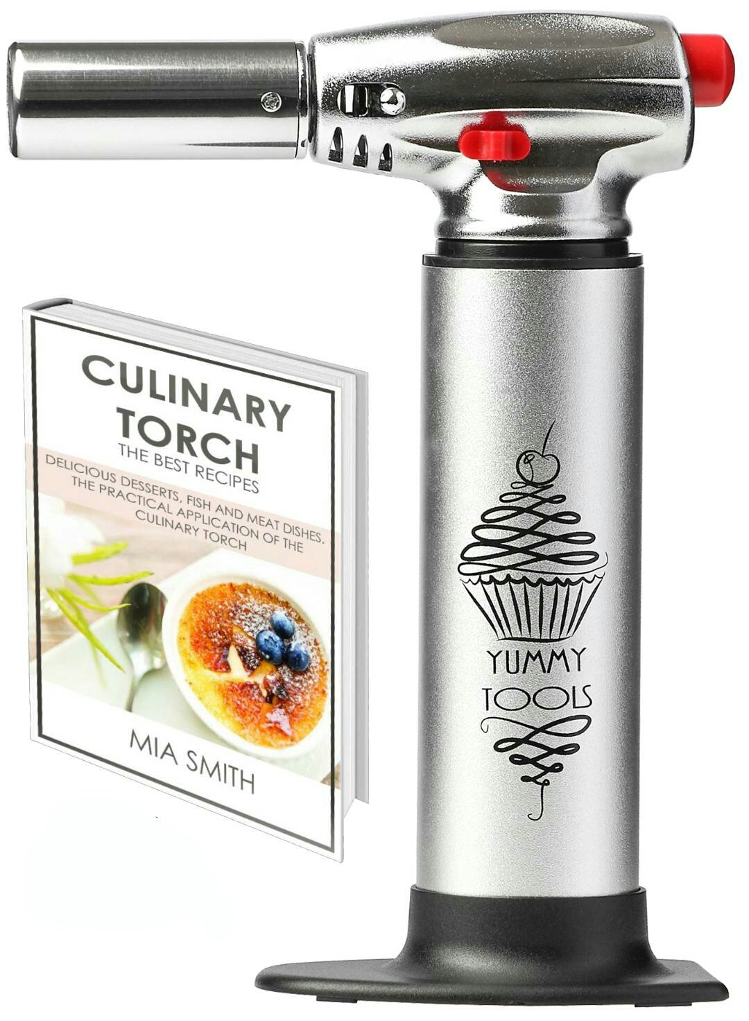 get quotations best culinary torch chef torch for cooking crme brulee aluminum hand butane kitchen torch - Kitchen Blowtorch