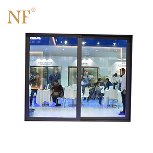 Automatic electric sliding glass door