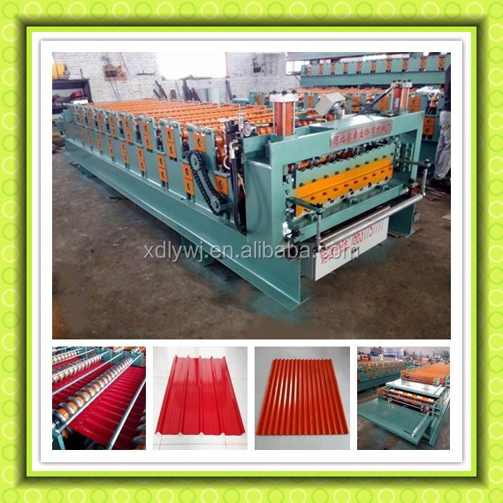 Mauritius High efficiency Double Layer IBR Corrugated metal iron roofing sheet roll forming machine