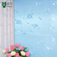 Embossed removable 3d wall paper designs luxury room sticker wallpaper home decoration