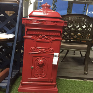 Durable modern design cast aluminum mail box waterproof post box