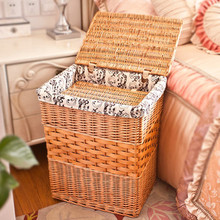 Fresh and elegant all kinds of home furnishing containing storage willow basket