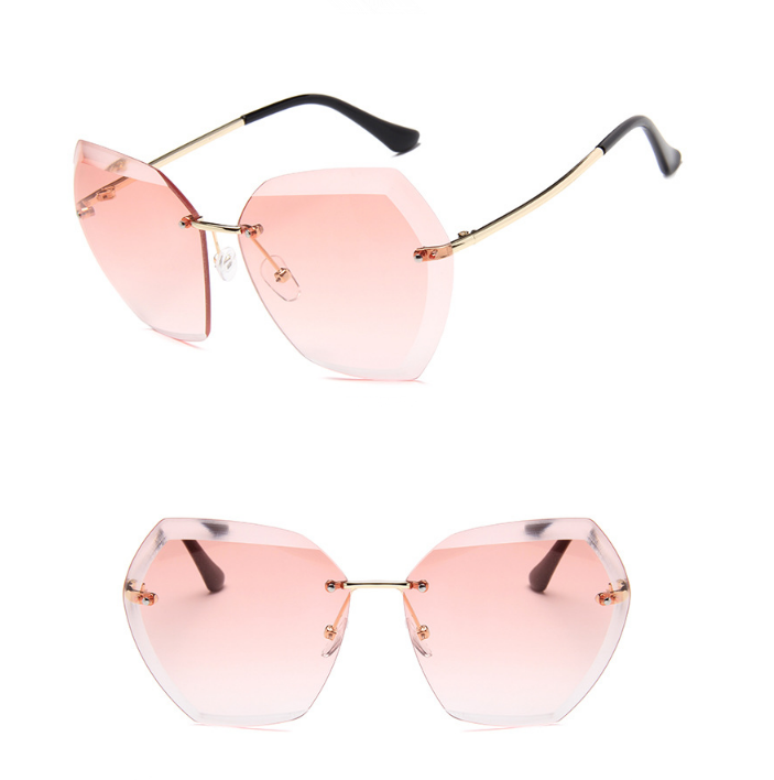 Fashionable city vision polarized  eye wear that creates optical illusion for women retro vintage designer brands sunglasses