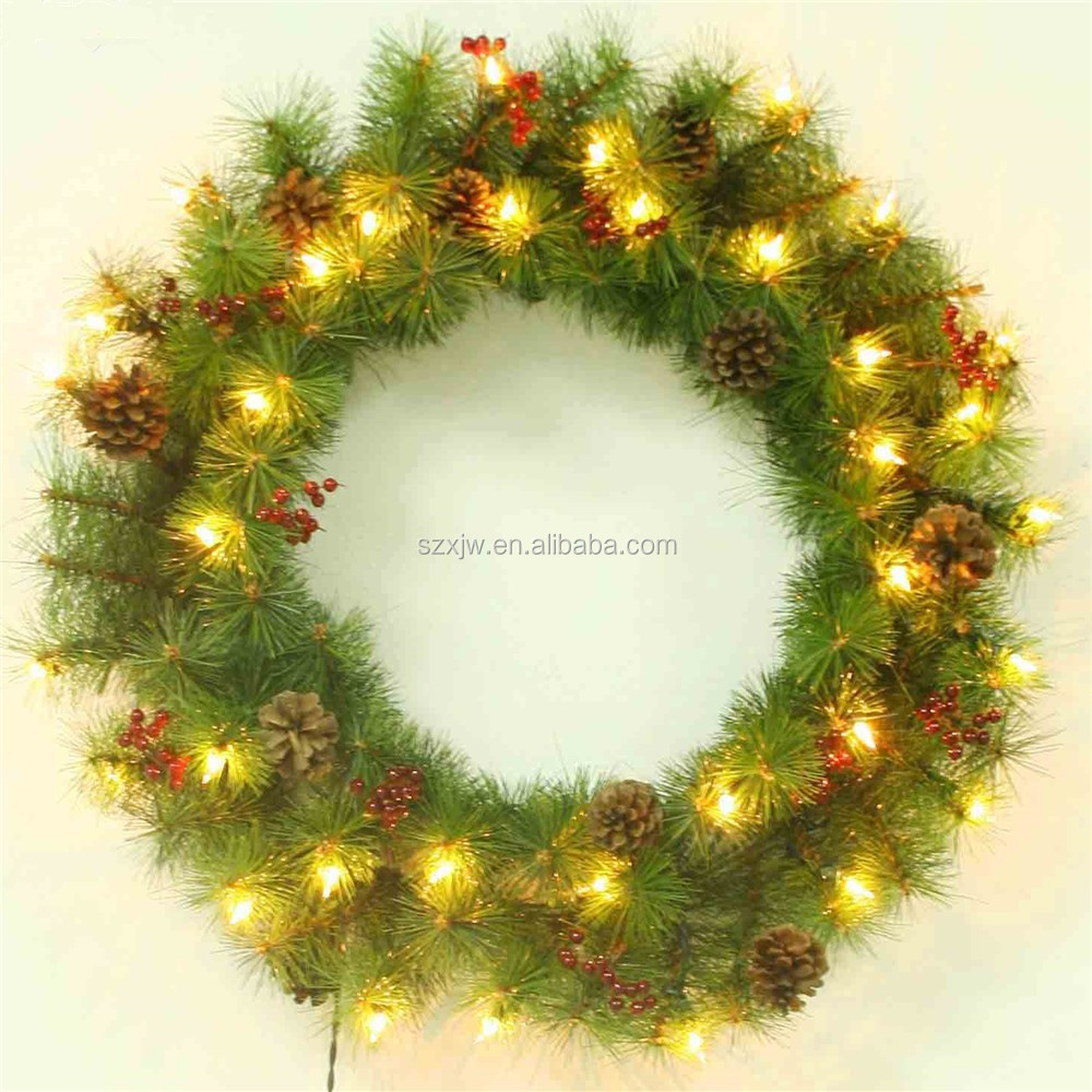 LED Light PVC Christmas Wreath