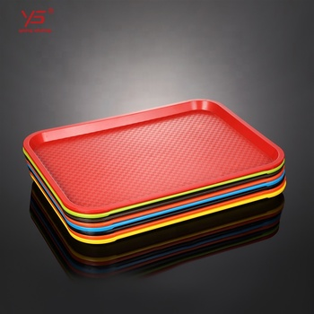 Cheap plastic fast food melamine serving rectangular tray