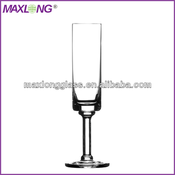 Mouth blown thick stem champagne flutes buy thick stem champagne flutes product on - Wine glasses with thick stems ...