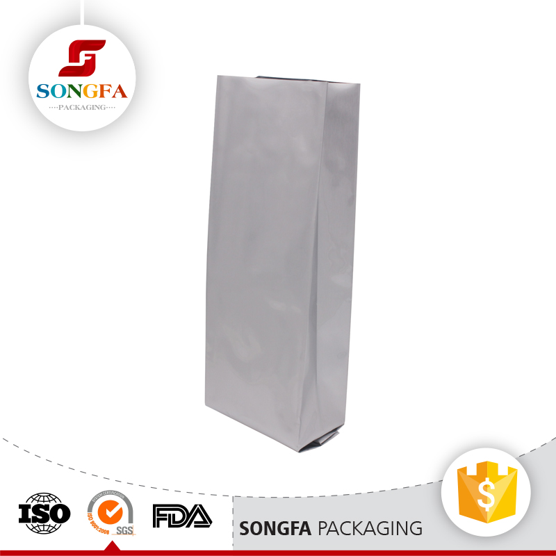 Heat sealing aluminium back sealed coffee bean packaging bags