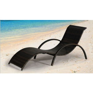 Sailing uv-resistant bali rattan outdoor sun bed day bed lounge furniture