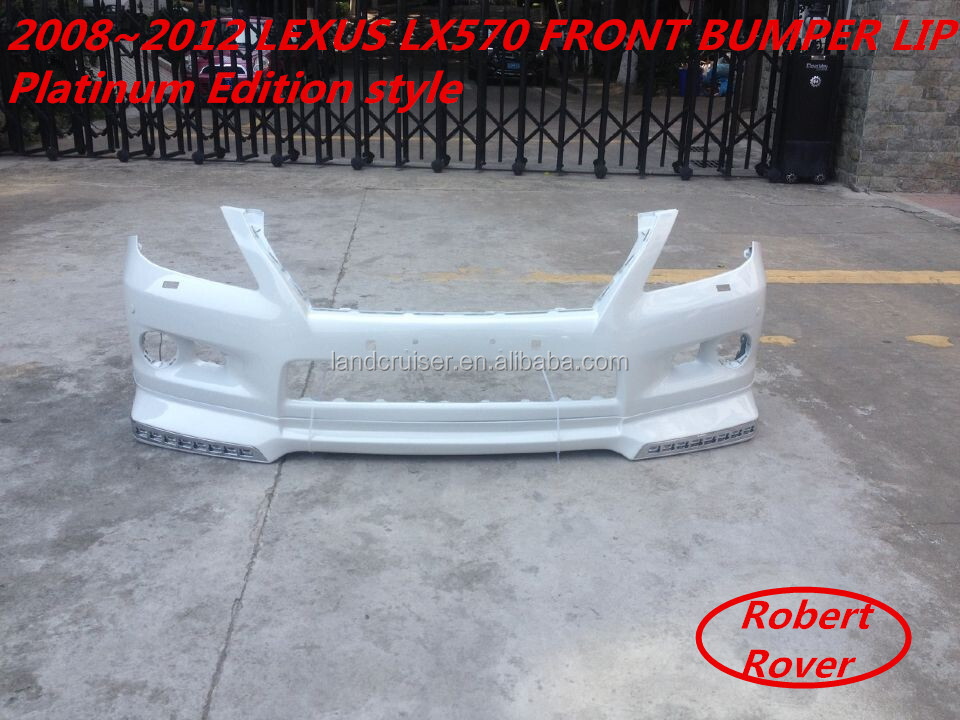 2008~2012 toyota LEXUS LX570 front bumper lip with LED lights, Platinum Edition style front bumper lip for LX570