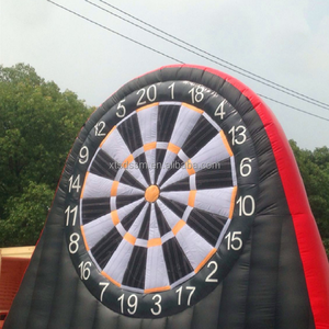 Custom football target game Giant Inflatable Soccer target toss foot darts