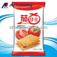 Laminated plastic packaging material for biscuit bag