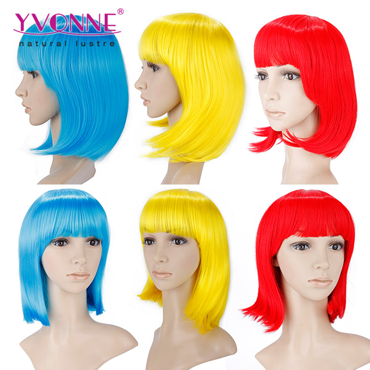 High quality wholesale different types of colorful cosplay wig