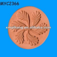 Terracotta flower motif biscuit cookie mould
