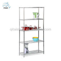 NSF stainless steel wire mesh shelving unit