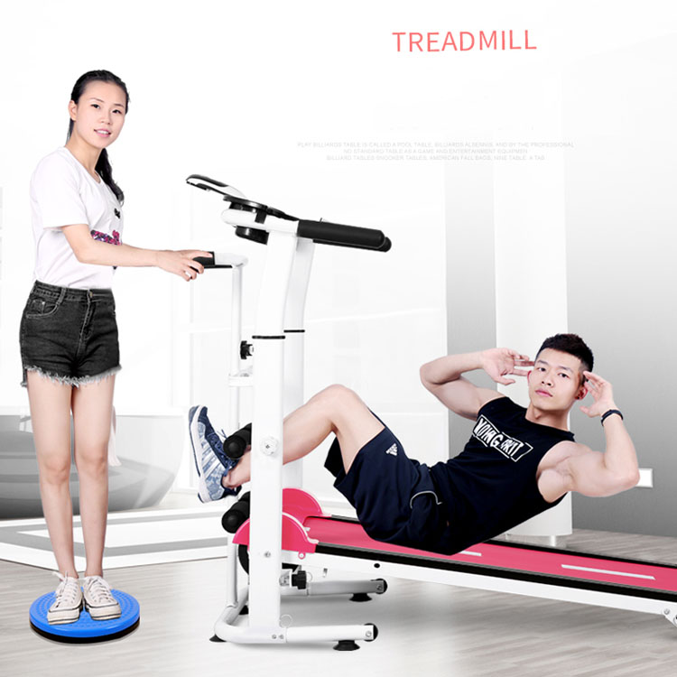 3 in 1Multi-function Gym Equipment Fitness Abdominal curl running machine treadmill For Home Use with Twist plate belt