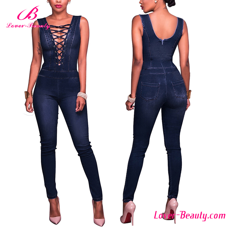 895ecea9214 High Quality Ladies Sexy Jean Jumpsuits Women