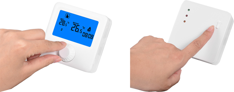 HY06RF Digital Wireless Thermostat Touch Screen Thermostat Floor Heating Thermostat