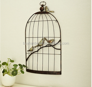 Wall Hanging Brief Decoration Metal Bird Cage Used For Home Decor, Showcase  Decoration Metal Wire