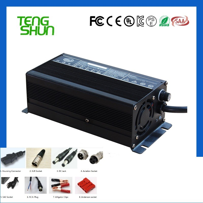 12v 20a 24v 10a 36v 8a 48v 5a lifepo4 battery charger with CC--CV Mode