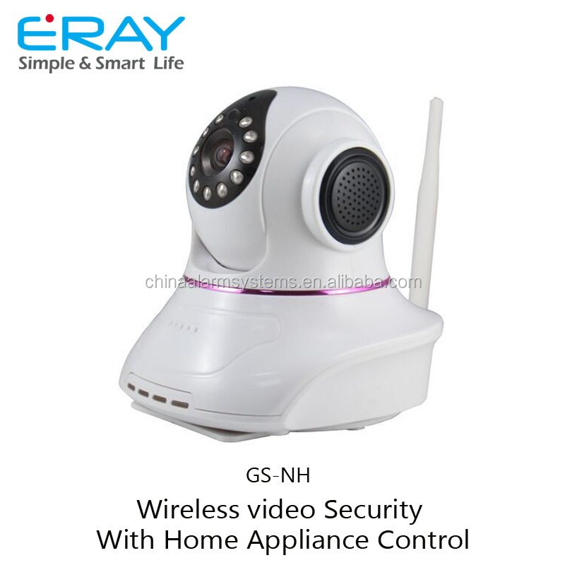 Easy to install p2p ip video wireless camera with home appliance control module