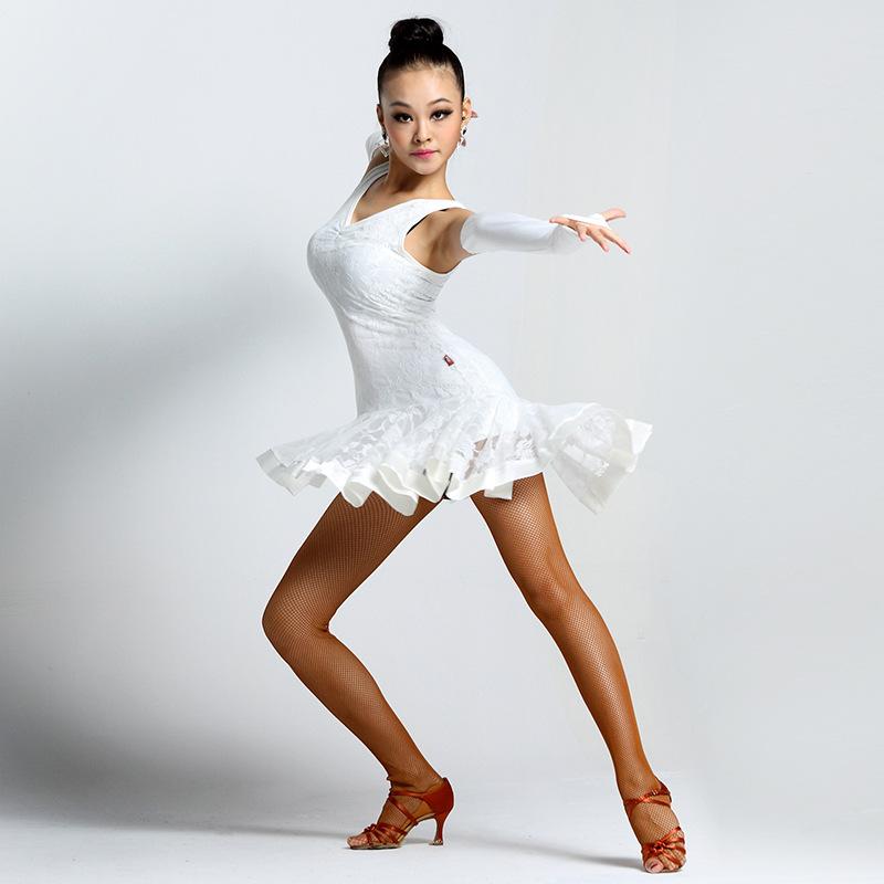 7044 mujeres niñas sexy blanco salsa Tango Samba Danza Latina vestidos para  las mujeres b5800bdd308