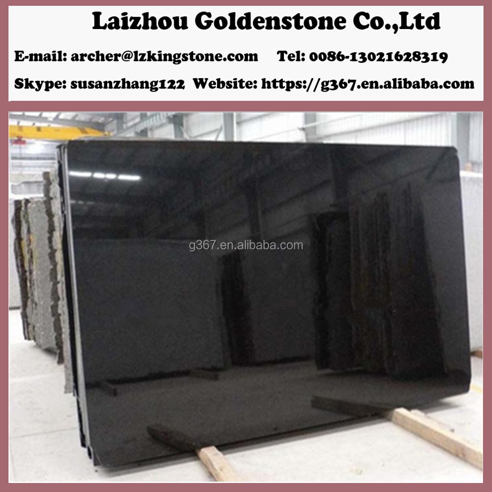 Shanxi plain absolutely black granite external wall tiles designs