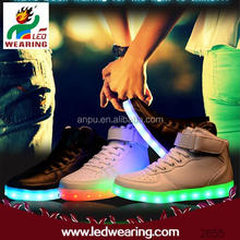 Anpu led wearing rechargeable usb led sneakers women men light up led shoes