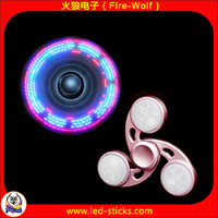 Cheapest Price Fidget Toy Stainless Steel Hand Spinner LED Flashing Metal Spinner Manufacturer China