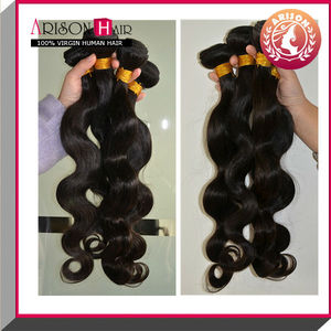 Arison Hair wholesale natural color unprocessed virgin human hair weft 100% malaysian hair