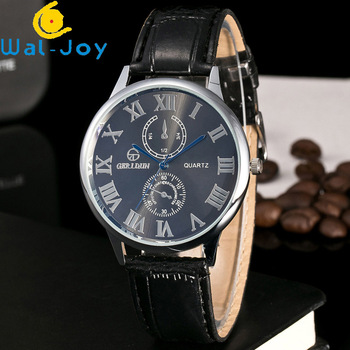 Wj 7215 Good Quality Cheap Lighter Watches Fro Men Roman Numbers Dial Leather Wristwatch Two Decorative Small Circles Face Watch Buy Good Quality