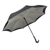 Custom Double Layer Strong Windproof Reverse Umbrella For Car