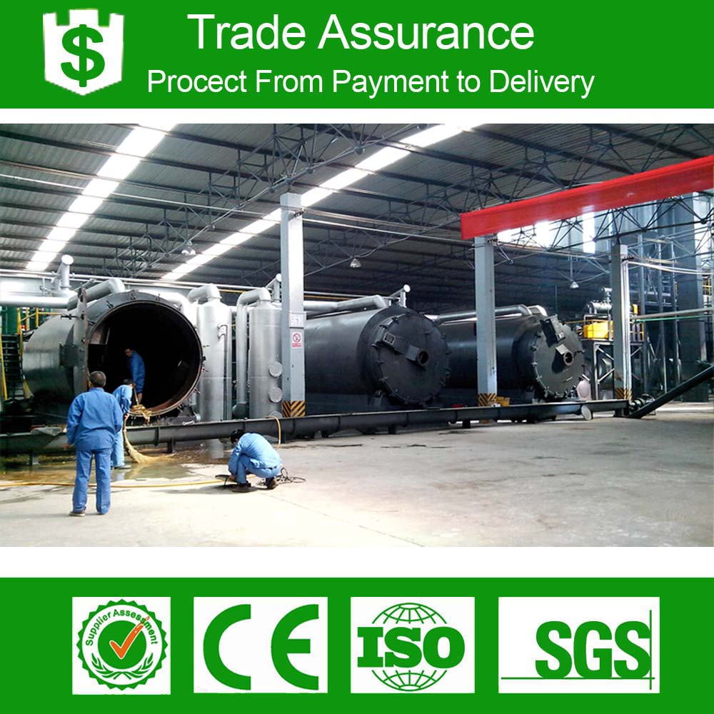 waste tyre rubber pyrolysis equipment with free installation